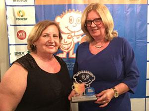 A WK Sistemas recebeu o reconhecimento da Fundação Cultural de Blumenau e da coordenação do 20º Fenatib, pela parceria e apoio na realização do evento.